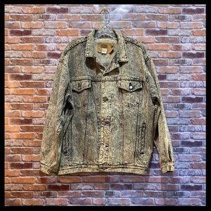 Vintage Gap Black Acid Wash Denim Jacket